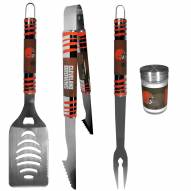 Cleveland Browns 3 Piece Tailgater BBQ Set and Season Shaker