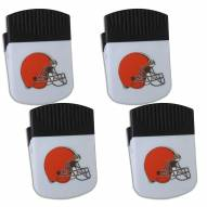 Cleveland Browns 4 Pack Chip Clip Magnet with Bottle Opener
