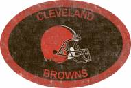 "Cleveland Browns 46"" Team Color Oval Sign"