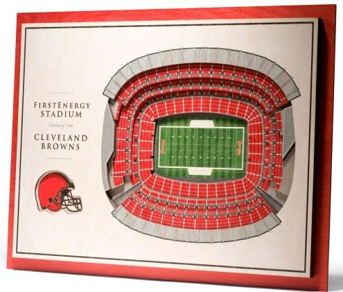 Cleveland Browns 5-Layer StadiumViews 3D Wall Art