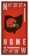 "Cleveland Browns 6"" x 12"" Coordinates Sign"