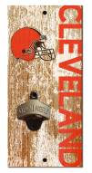 """Cleveland Browns 6"""" x 12"""" Distressed Bottle Opener"""