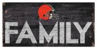 """Cleveland Browns 6"""" x 12"""" Family Sign"""