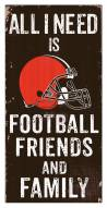 """Cleveland Browns 6"""" x 12"""" Friends & Family Sign"""