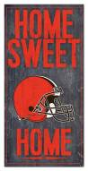 """Cleveland Browns 6"""" x 12"""" Home Sweet Home Sign"""