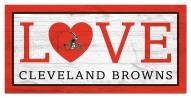 """Cleveland Browns 6"""" x 12"""" Love Sign"""