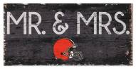 "Cleveland Browns 6"" x 12"" Mr. & Mrs. Sign"