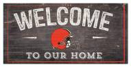 """Cleveland Browns 6"""" x 12"""" Welcome Sign"""