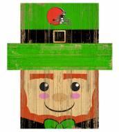 """Cleveland Browns 6"""" x 5"""" Leprechaun Head"""