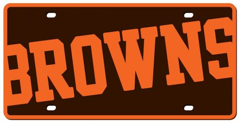 Cleveland Browns Acrylic Mega License Plate