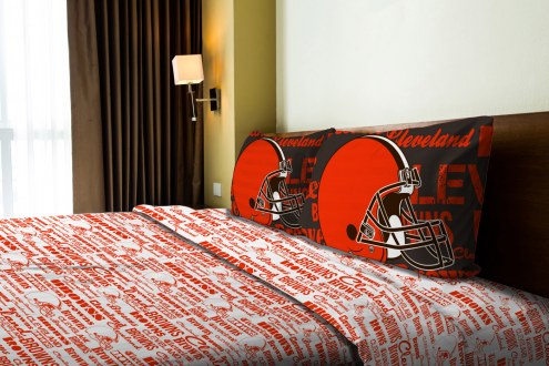 Cleveland Browns Anthem Full Bed Sheets