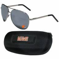 Cleveland Browns Aviator Sunglasses and Zippered Carrying Case