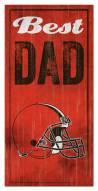 Cleveland Browns Best Dad Sign