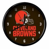 Cleveland Browns Black Rim Clock