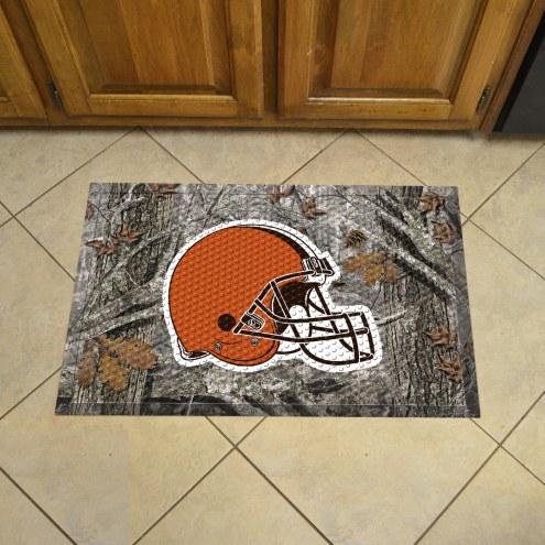 Cleveland Browns Camo Scraper Door Mat