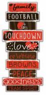 Cleveland Browns Celebrations Stack Sign