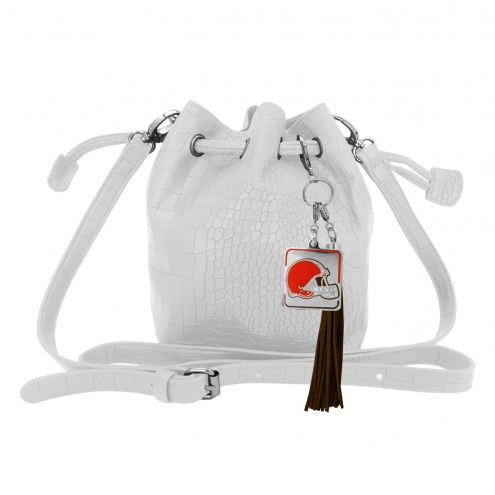Cleveland Browns Charming Mini Bucket Bag