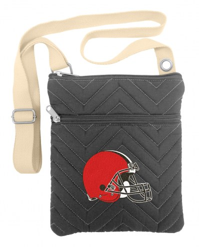 Cleveland Browns Chevron Stitch Crossbody Bag