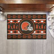 Cleveland Browns Christmas Sweater Starter Rug
