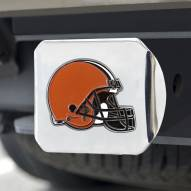 Cleveland Browns Chrome Color Hitch Cover