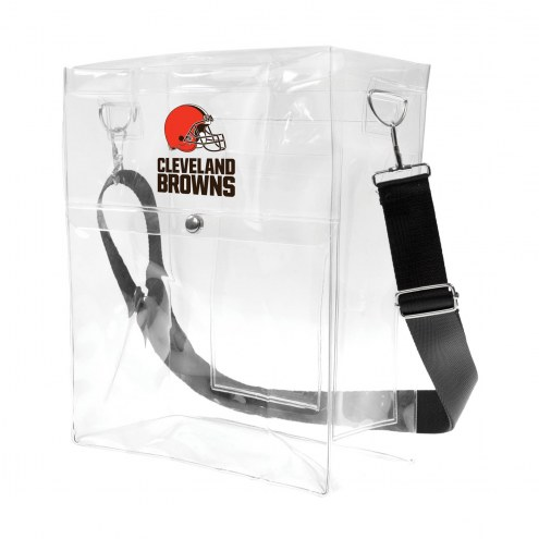 Cleveland Browns Clear Ticket Satchel