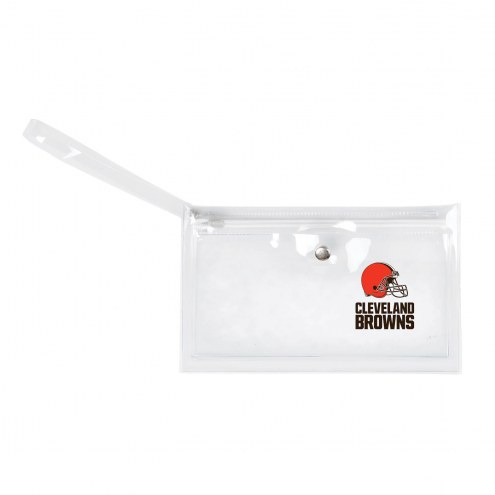 Cleveland Browns Clear Ticket Wristlet