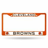 Cleveland Browns Color Metal License Plate Frame