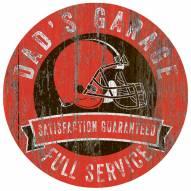 Cleveland Browns Dad's Garage Sign