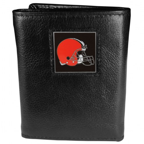 Cleveland Browns Deluxe Leather Tri-fold Wallet