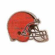 Cleveland Browns Distressed Logo Cutout Sign
