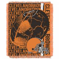 Cleveland Browns Double Play Jacquard Throw Blanket