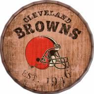 """Cleveland Browns Established Date 24"""" Barrel Top"""