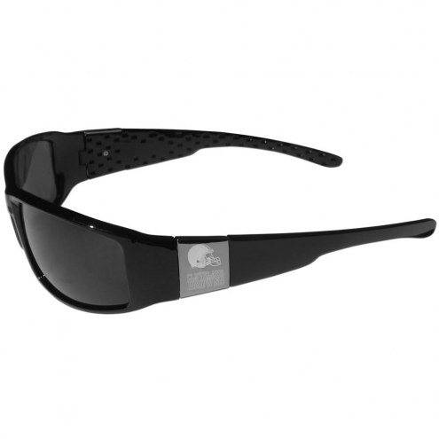 Cleveland Browns Etched Chrome Wrap Sunglasses
