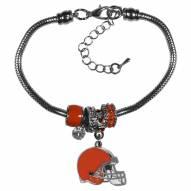 Cleveland Browns Euro Bead Bracelet