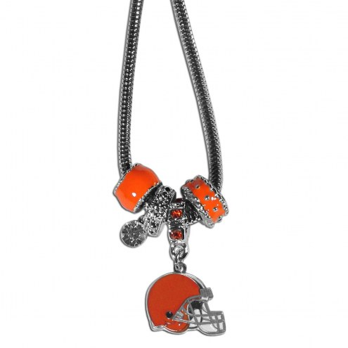 Cleveland Browns Euro Bead Necklace