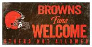 Cleveland Browns Fans Welcome Sign