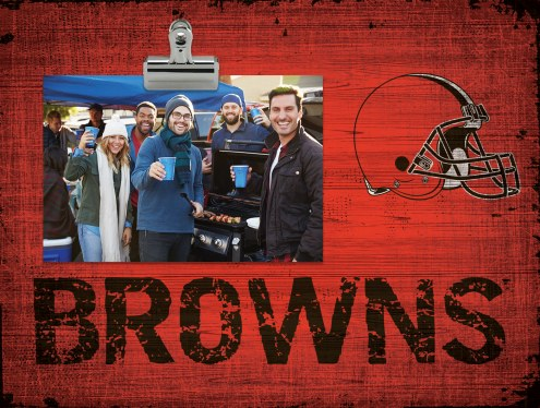 Cleveland Browns Wood Clip Frame