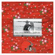 """Cleveland Browns Floral 10"""" x 10"""" Picture Frame"""
