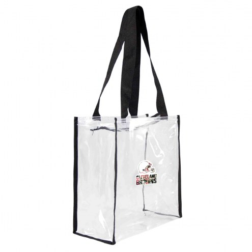 Cleveland Browns Floral Clear Square Stadium Tote