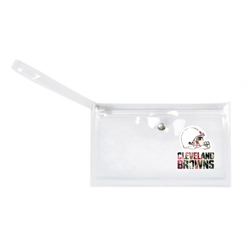 Cleveland Browns Floral Clear Ticket Wristlet