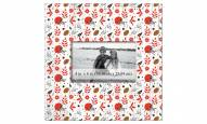"""Cleveland Browns Floral Pattern 10"""" x 10"""" Picture Frame"""