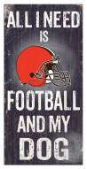 Cleveland Browns Football & My Dog Sign