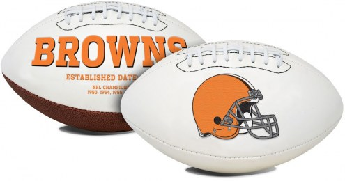 Cleveland Browns Full Size Embroidered Signature Series Football