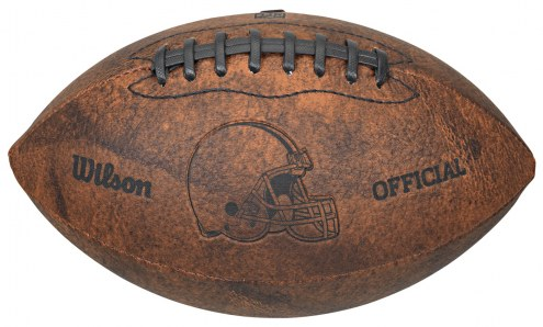 Cleveland Browns Vintage Throwback Football