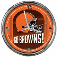 Cleveland Browns Go Team Chrome Clock