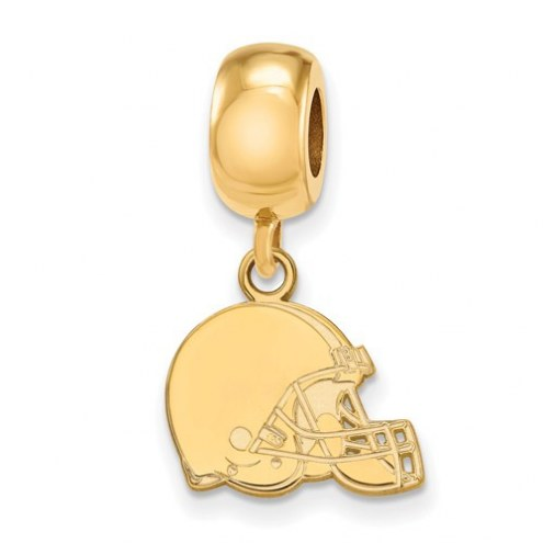 Cleveland Browns Sterling Silver Gold Plated Extra Small Dangle Bead Charm