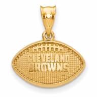 Cleveland Browns Gold Plated Football Pendant