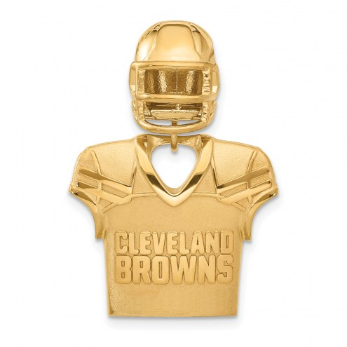 Cleveland Browns Gold Plated Jersey & Helmet Pendant