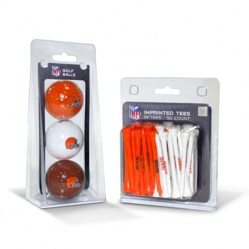 Cleveland Browns Golf Ball & Tee Pack
