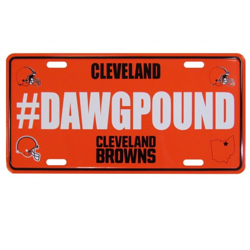 Cleveland Browns Hashtag License Plate